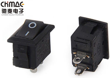 On Off Kcd11 Rocker Switch , Tiny Rocker Switch 5A / 6A 125V AC 1500 VAC / Min