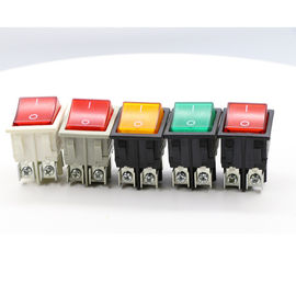 Dpst On Off Neon Lamp KCD Rocker Switch , 120V Double Throw KCD4 Rocker Switch