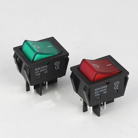 KCD4 DPST 4Pin ON-OFF 220V Red Illuminated 20A 30A Rocker Switch